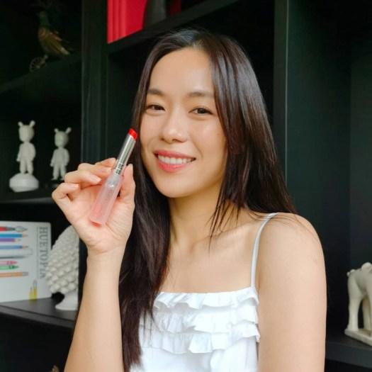 Rebecca Lim wearing 025 Seoul Scarlet