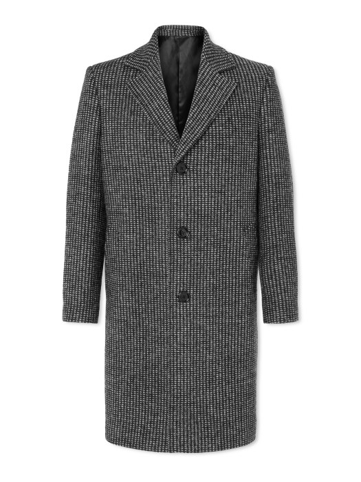 CELINE HOMME 3B MAC IN MARTINGALE-TWEED WITH ALL OVER POINTELLE DETAIL