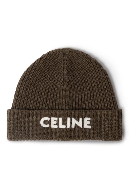 CELINE HOMME BEANIE HAT WITH CELINE LOGO