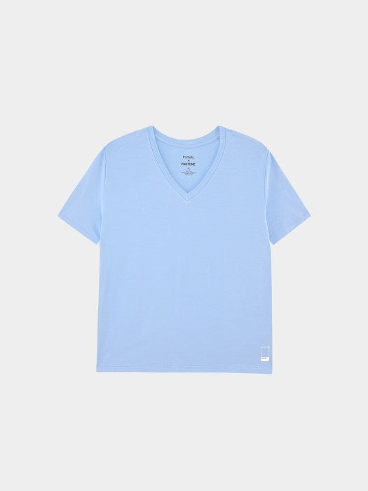 Sustainable V-Neck Top - Blue ($24.90)
