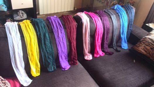 Stokings of various colors