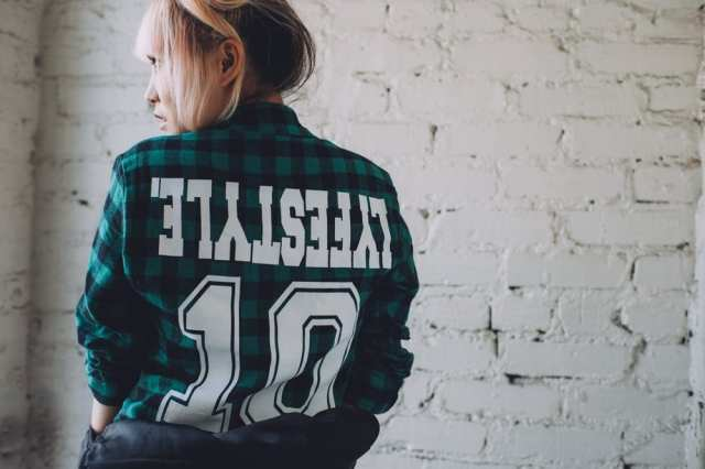 green plaid flannel lyfestyle