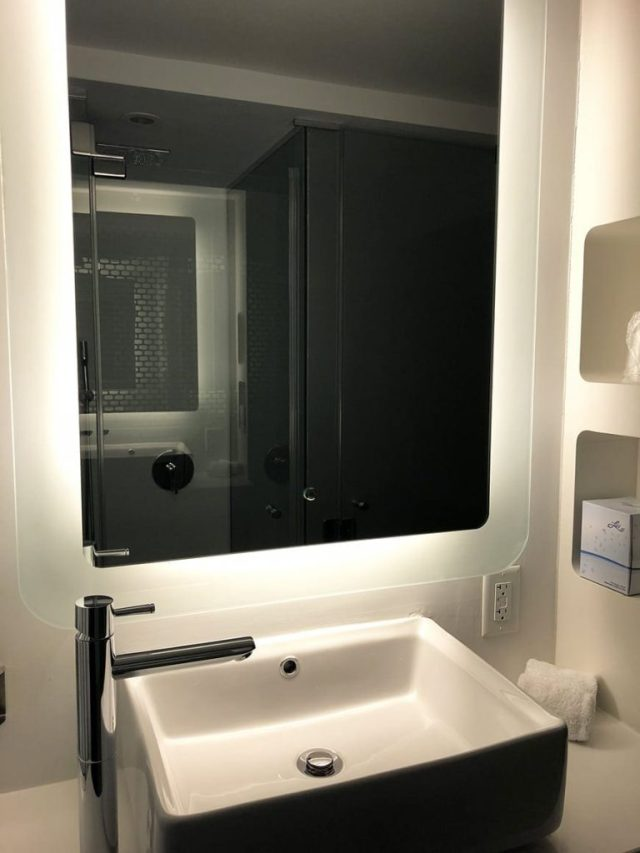 yotel new york at times square west reviews - bathroom sink
