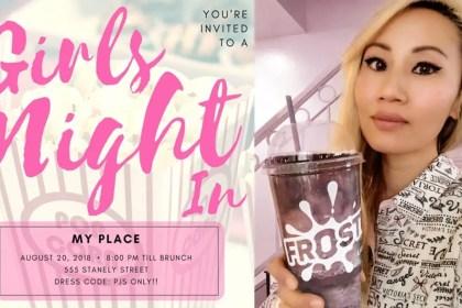 cozy girls night in invitations