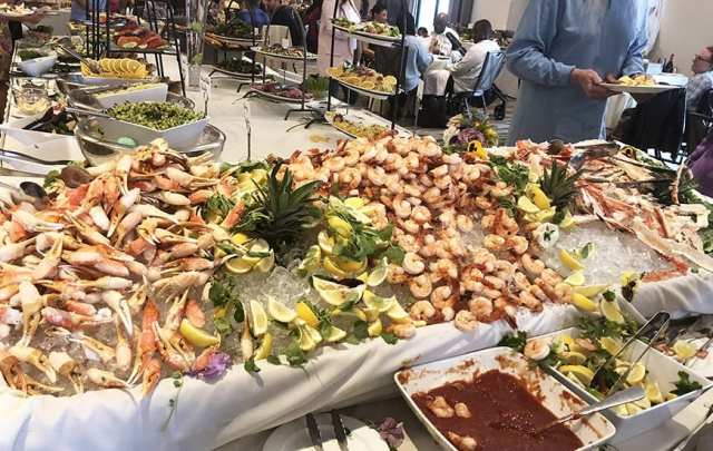 Luxe Sunset Boulevard Hotel - Easter Brunch Buffet - Cold Seafood Bar