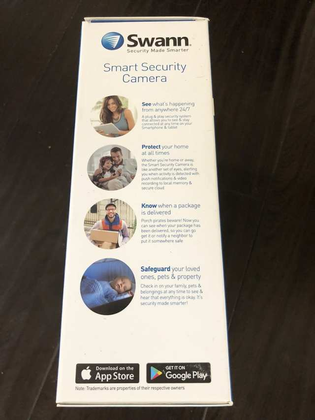Swann Smart Security Camera Wireless 1080 Packaging Side2