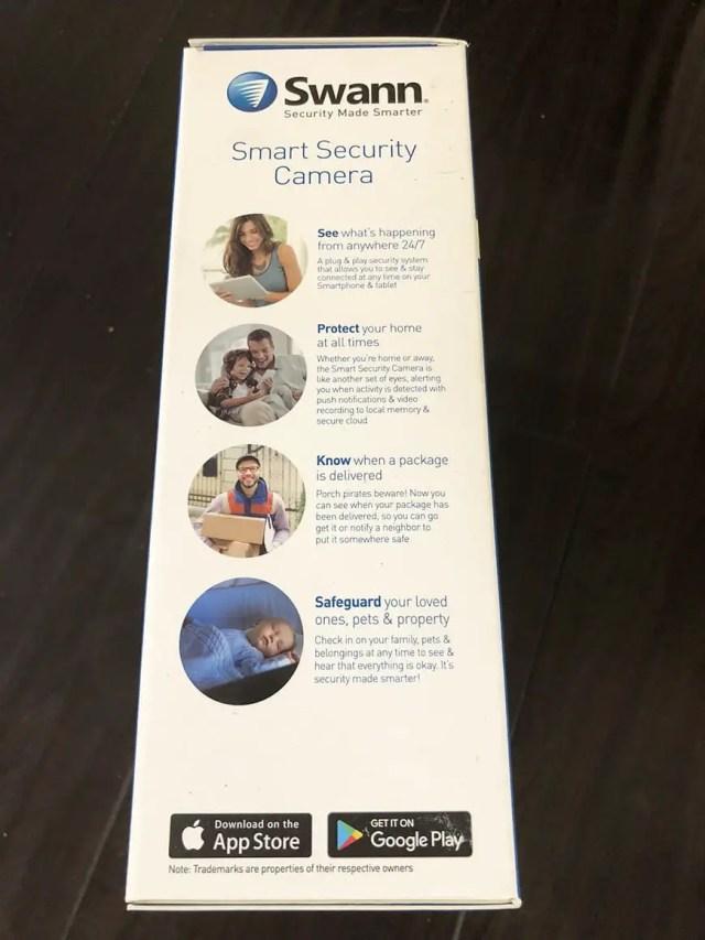 Swann Smart Security Camera Wireless 1080 Packaging Side2
