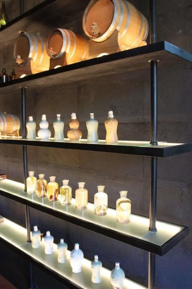 hotel indigo bali seminyak beach - bar bottles