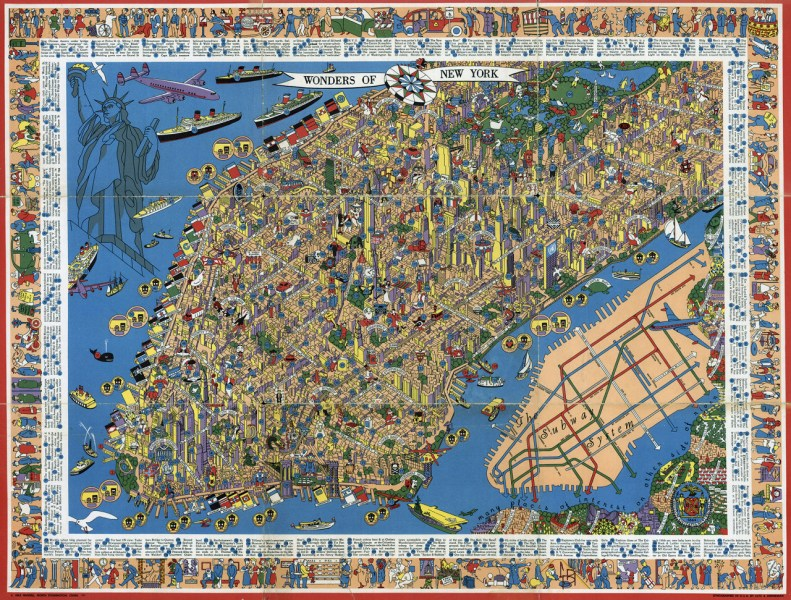 Perspective illustrated map of Manhattan  Manhattan perspective     Perspective illustrated map of Manhattan  Manhattan perspective illustrated  map