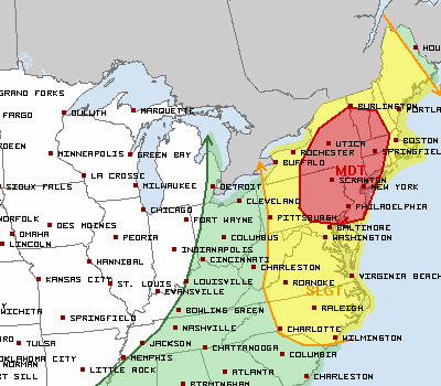 Storm Prediction Center issues Day 2 Moderate Risk for