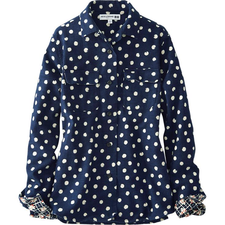 Wear It Everywhere: UNIQLO Inés de la Fressange Polka Dot Shirt