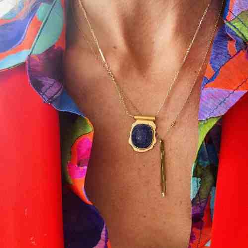 Collier Amulette Nynybird Lapis Lazuli