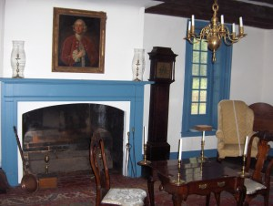 Fireplace at the Billop House, or Conference House
