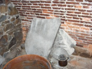 Headstones in the basement of the Conference House