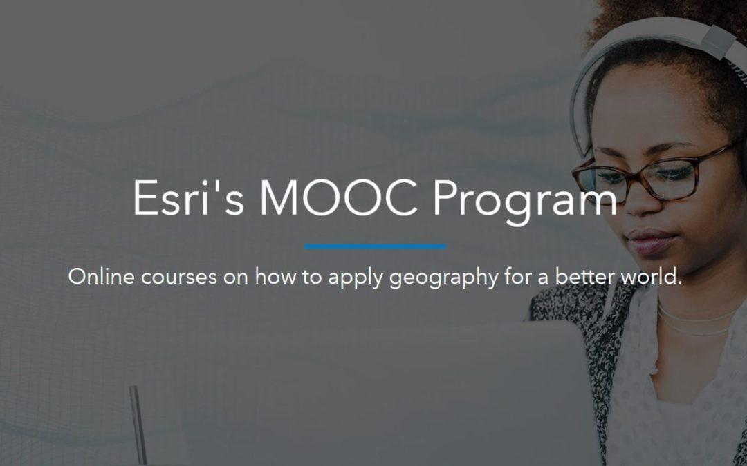 Upcoming Esri MOOCs