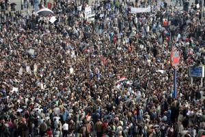 Tahrir-plassen, Kairo, 2011. FOTO:AFP / MIGUEL MEDINA