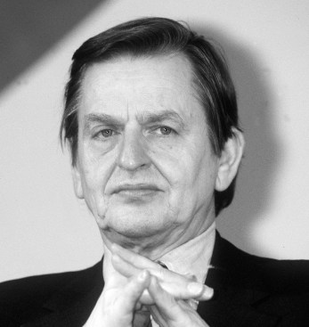 (FILES) - This undated file photo shows Swedish Prime Minister Olof Palme in Paris. Olof Palme was killed 28 February 1986 by a lone gunner in central Stockholm. Swedish Foreign Minister Anna Lindh died 11 September 2003 after being stabbed by an unknown assailant in Stockholm 10 September. AFP PHOTO