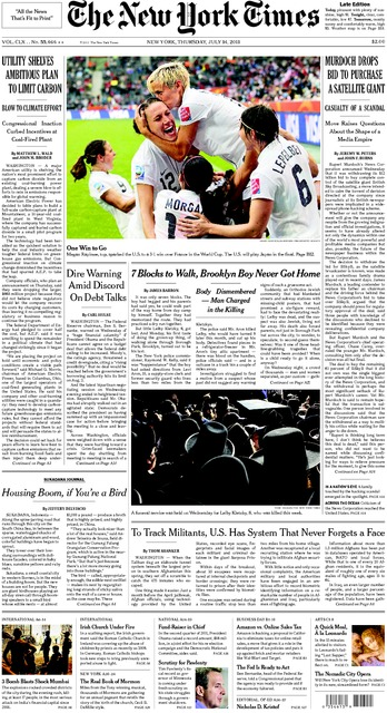 NY Times World Cup Cover