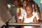 FP School Camp Group in Turnstile Exhibit