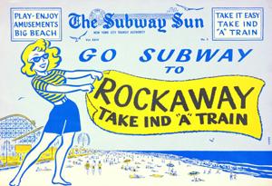 Vintage Rockaways Subway Sun Ad