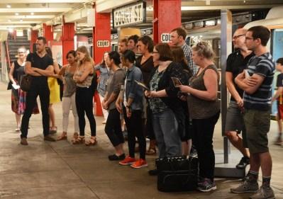 Group Tour on Transit Museum Platform