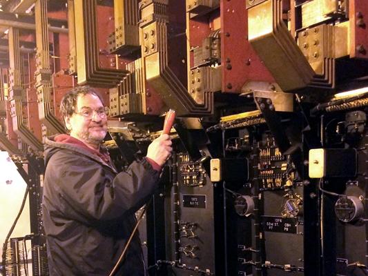 Robert W. Lobenstein leading tour of Substation #13
