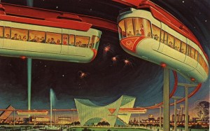 TRAVELING IN THE WORLD OF TOMORROW AMF Monorail, 1964-65 New York World's Fair. Courtesy of Found Image Press
