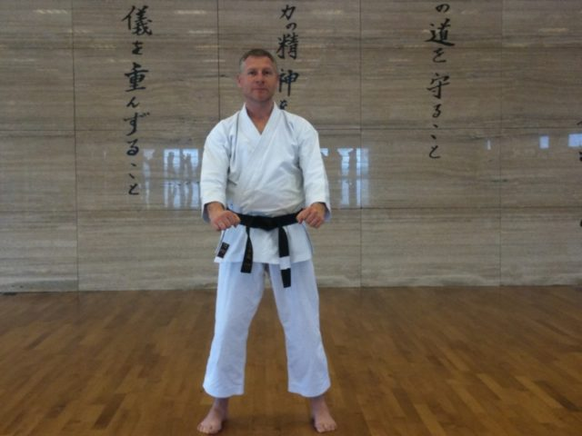 The author, Nick Cromwell at Dojo Staro Wieś in Poland in May 2010