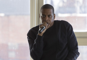 Jay-Z talks to Clive Davis students about Tidal, a music streaming service.