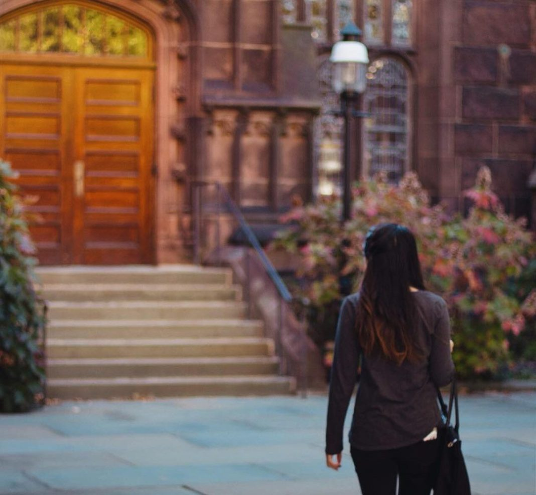 Princeton University is full of beautiful architecture and landscaping