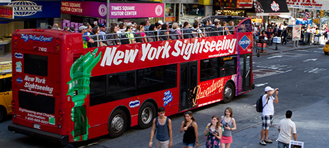 Image result for hop-on hop-off buses in new york city