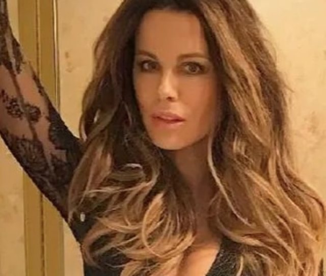 Kate Beckinsale Posted A Racy Picture Wearing A Semi Sheer Leotard To Her