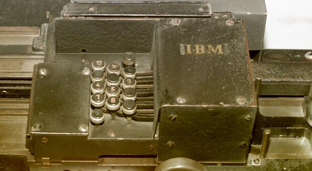 A World War II era IBM card sorting machine at the United States Holocaust Museum in Washington. Photo / Getty Images