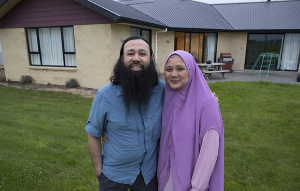 Reza Abdul-Jabbar and his wife Silvia. Picture / Brett Phibbs.