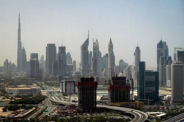 Dubai's skyline including the Burj Khalifa seen from the observation deck of the Dubai Frame. Photo / Jason Oxenham
