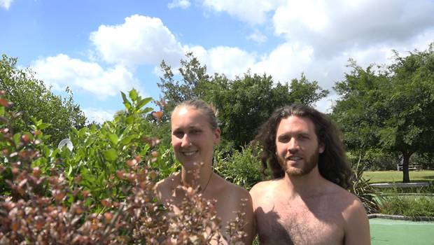 Matt and Sophie enjoying the flora and picturesque grounds. Photo/Jaden McLeod