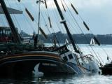 Rainbow Warrior sunk in Auckland harbour
