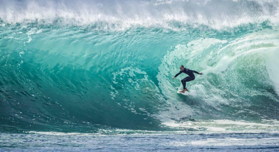 サーフィンの速度は体重に比例しない