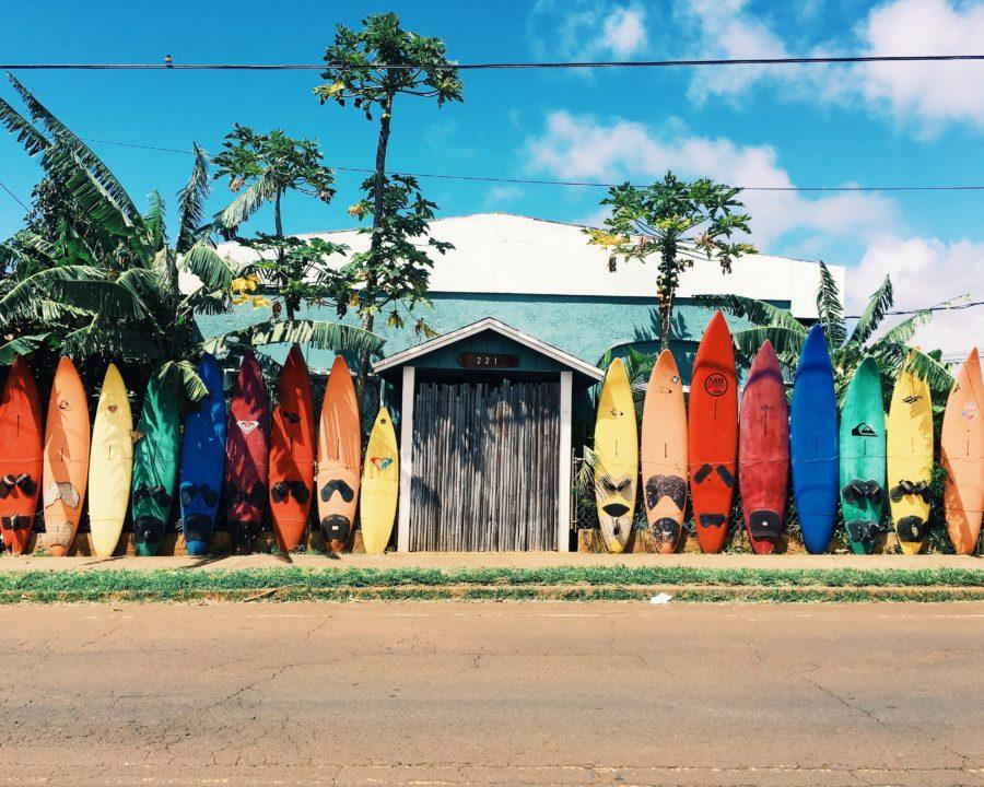 サーフボードの保管場所は室内が原則