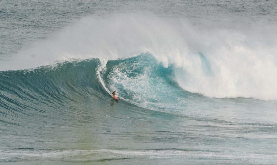 オンショアでトレーニングを続ければ波のサイズが大きくなっても問題ない