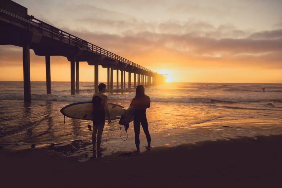 陸から波をチェックすれば、正しい波を選べる