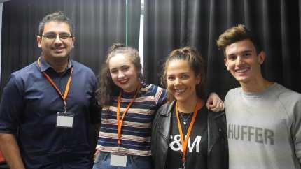 Getting Social with (l-r) Asad Naseem, Caito Potatoe, Kate Manihera, Kasper TaitPhoto: Tony Forster