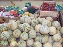 Melons, pastèques et fraises