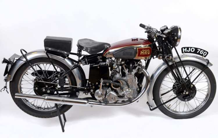 This Vincent HRD Meteor will be on sale in the Charterhouse Auction at the upcoming Carole Nash Eurojumble