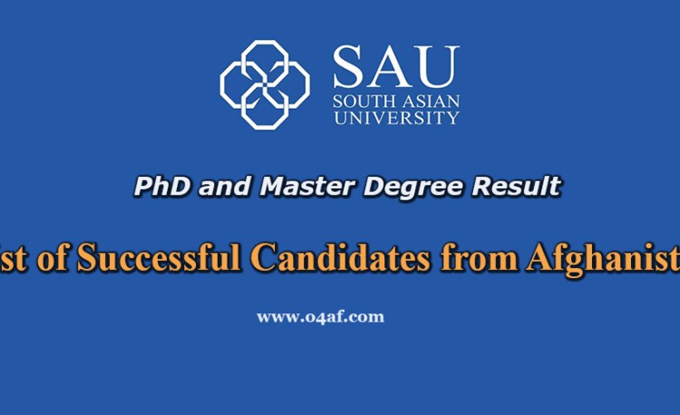 SAU list of success full candidates