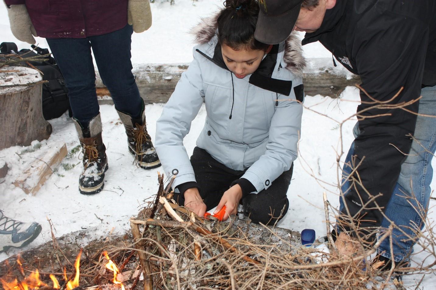 Un rassemblement de leadership hivernal pour les jeunes autochtones pris en charge