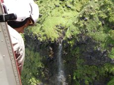 Aerial surveys in the Ko'olau Mountains.