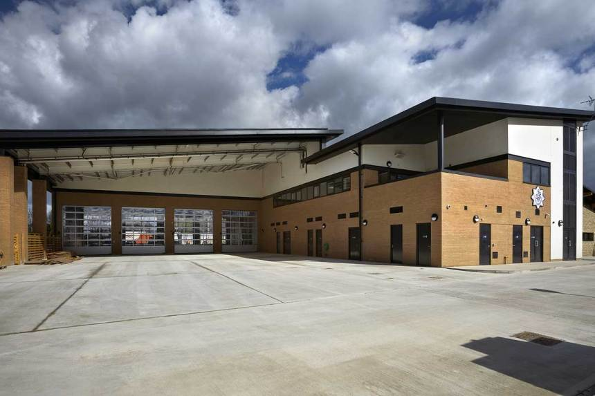 Cheltenham West Community Fire and Rescue Station, Uckington, photo supplied by Kier