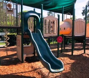 Playground Sliding Board and Play Structures