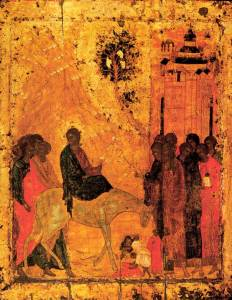 The Lord's Entry into Jerusalem by Andre Rublev